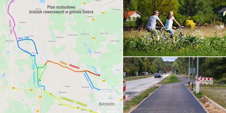 Budowa tras rowerowych w gminie Dobra