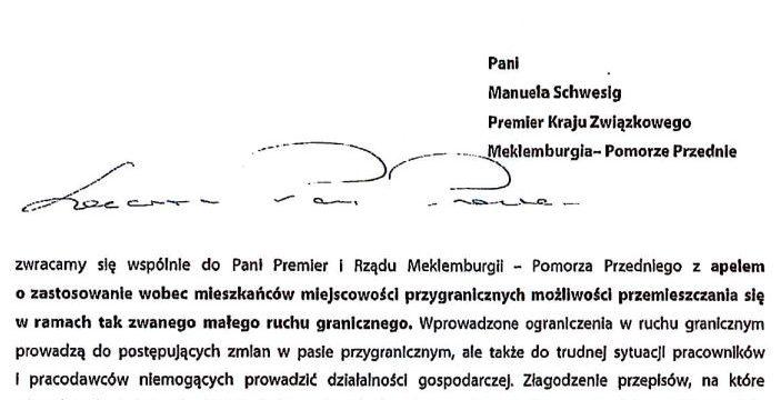 Apel samorządowców do władz landu Meklemburgia-Pomorze Przednie