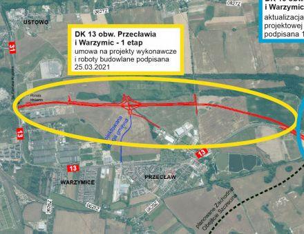 Rusza budowa I etapu obwodnicy Przecławia i Warzymic