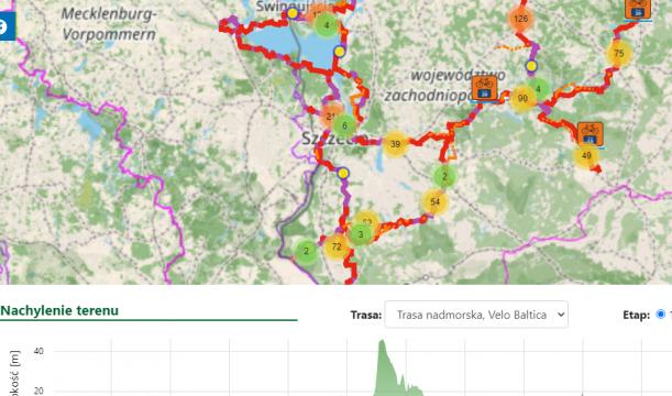Nowa mapa rowerowa Pomorza Zachodniego.