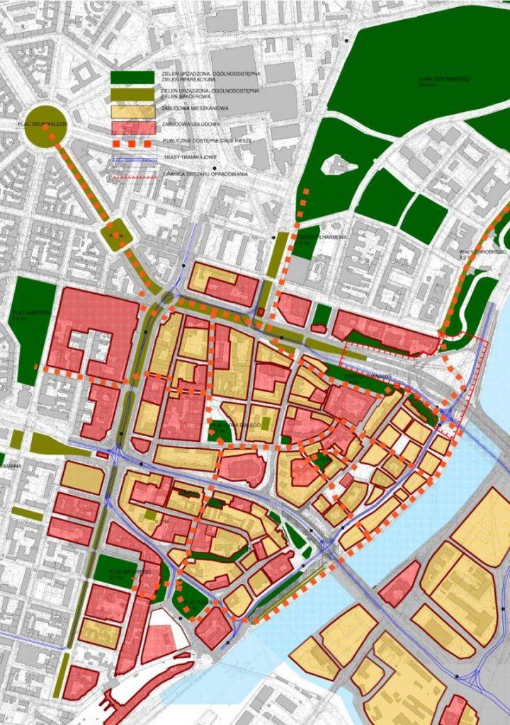 """Plan zagospodarowania Szczecin - """"nowe"""" Stare Miasto"""