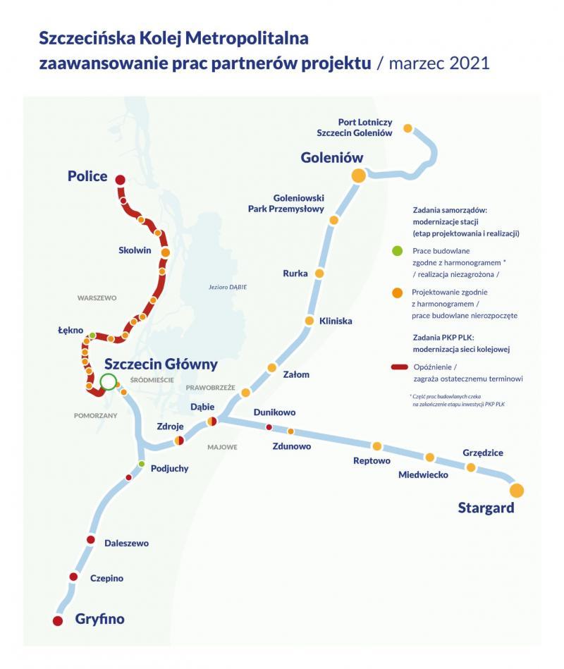 Mapa zaawansowanie prac