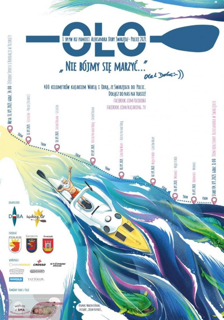 Trasa spływu- plakat